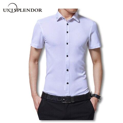 2019 Cocktail Party Men Short Sleeve Shirts Summer Casual Gentleman Dress Shirts New Design Collar Printing Solid Shirts YN10068 Pakistan