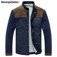 NaranjaSabor демисезонный новый для мужчин's повседневные куртки одноцветное мужчин лоскутное Slim Fit Пальто для будущих мам мужской спортивн
