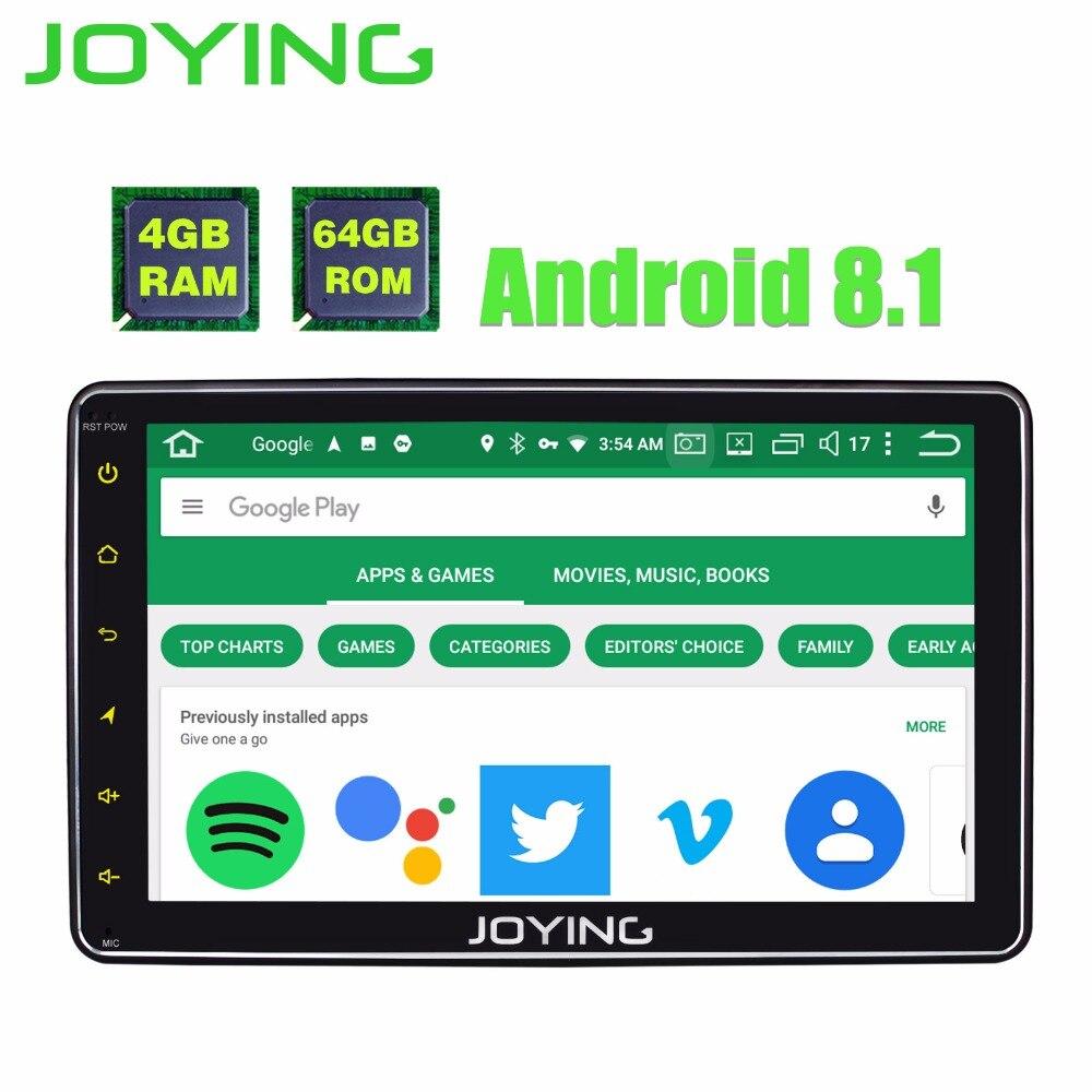 JOYING 4 gb di RAM 64 gb ROM 1 DIN 8 pollice Android 8.1 auto Autoradio schermo HD unità di testa stereo lettore registratore GPS con carplay