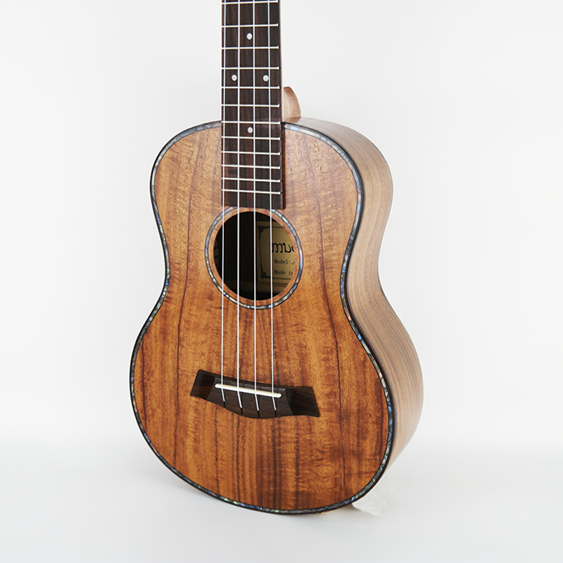 23 Ukulele Concert Acoustic Mini guitar KOA Sweet Acacia Uke Rosewood Fretboard 4 strings Electric Ukelele with Pickup EQ image