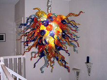 Tiffany Stained Glass Chandelier Hand Blown Crystal for New Housh Entryway Staircase