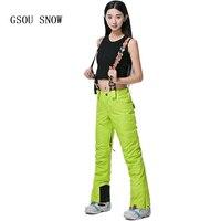 GSOU SNOW Nữ Quần Trượt Tuyết Trượt Tuyết Chuyên Nghiệp Quần-30 Bằng Winter Tuyết Quần Waterproof 10 K Thở Nữ Trượt Tuyết mặc