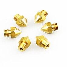 Wholesale 3D Printer Nozzle 5pcs/lot 0.2mm/0.3mm/0.4mm Copper Nozzle for 1.75mm PLA ABS Filaments MK8 3D Extruder Makerbot