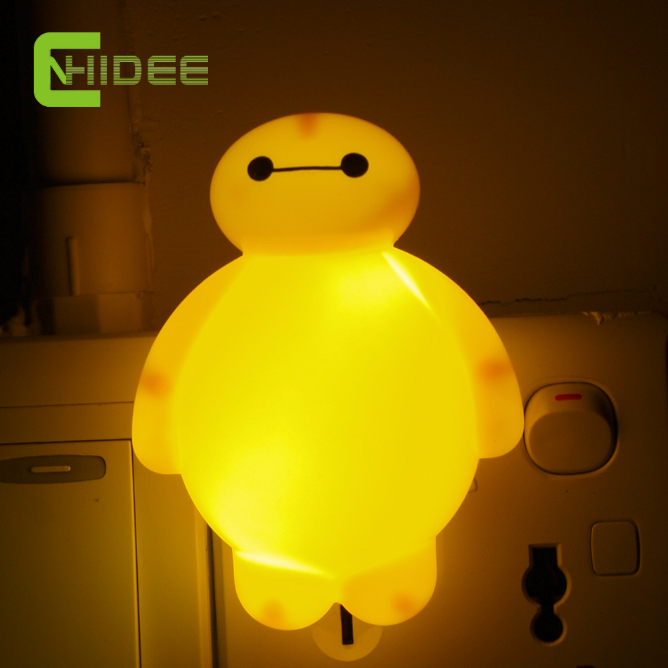 Lamps with night light - Baymax Wall Lampara Cartoon Led Night Light Bed Lamp Night Lamps Home Illumination For Kid Children Baby Birthday Gifts Us Plug In Night Lights From Lights
