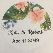 100 Pieces Custom Sticker, Personalized Wedding Gift Sticker