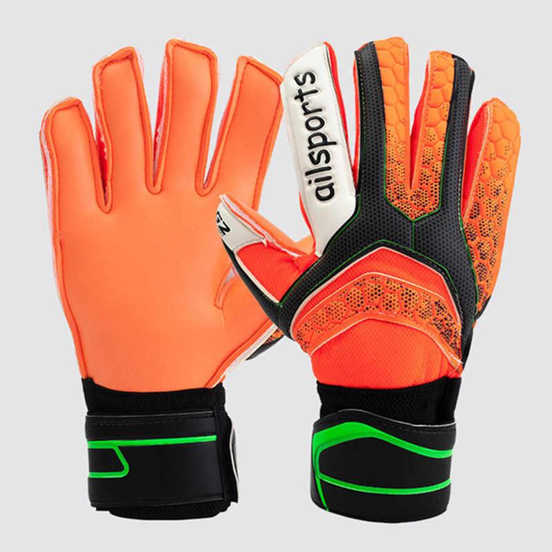 Profesional Mens Anak-anak Sepak Bola Sarung Tangan Kiper Sepak Bola Wanita Sarung Tangan Sarung Tangan Penjaga Gawang Lateks 5 Jari Menyimpan Melindungi Bernapas