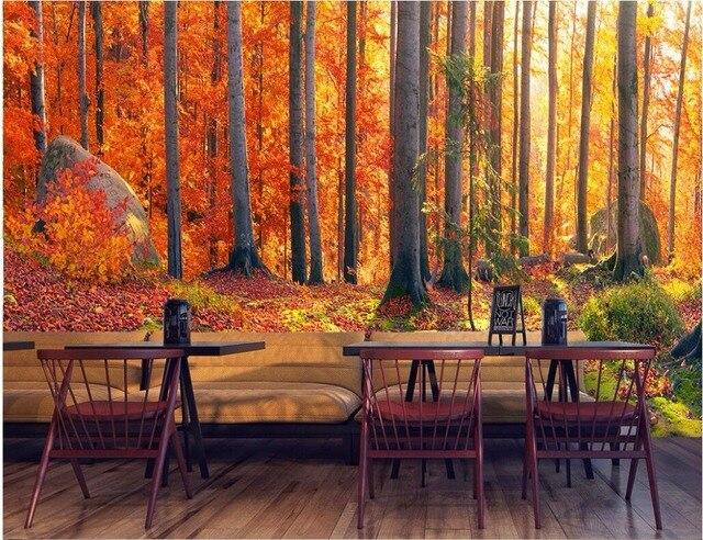 Custom photo designs 3d wall murals wallpaper Autumn mountains