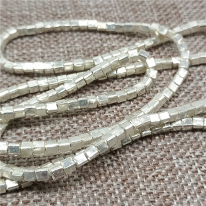 Image 1 - Karen Hill Tribe Silver Tiny Cube Beads 2.5mm Square Spacers for Bracelet Necklace