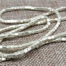 Karen Hill Tribe Zilveren Kleine Kubus Kralen 2.5 Mm Vierkante Spacers Voor Armband Ketting