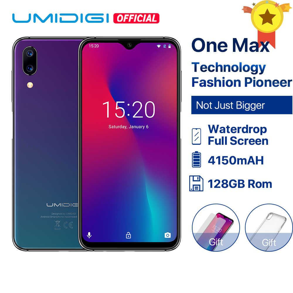 "UMIDIGI One Max Global Version 4GB 128GB 6.3"" Waterdrop Full-Screen 4150mAh Dual Camera Smartphone NFC Wireless Charging Face ID"