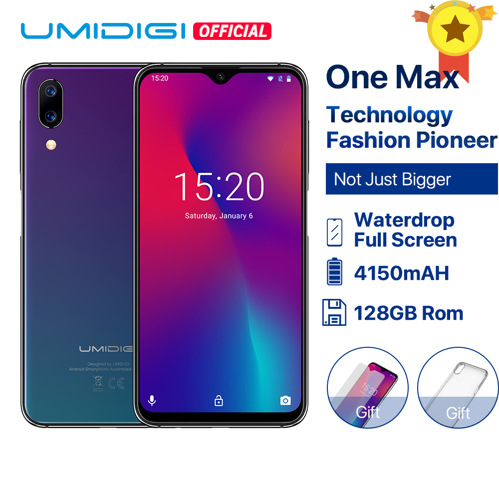 UMIDIGI One Max Global Version 4GB 128GB 6.3 Waterdrop Full-Screen 4150mAh Dual Camera Smartphone NFC Wireless Charging Face IDUMIDIGI One Max Global Version 4GB 128GB 6.3 Waterdrop Full-Screen 4150mAh Dual Camera Smartphone NFC Wireless Charging Face ID