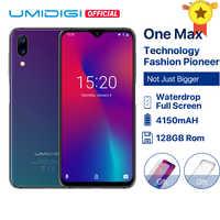 UMIDIGI uno Max versión Global de 4GB 128GB 6,3 de agua Pantalla Completa 4150mAh Dual Cámara Smartphone identificación facial de carga inalámbrica NFC