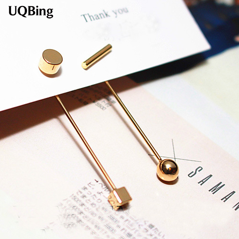Fashion Exaggerated Asymmetric Geometric 925 Silver Stud Earrings Jewelry Pendientes Brincos Fashion Jewelry