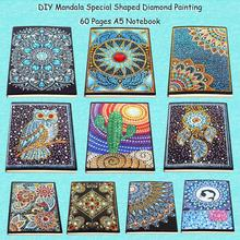 DIY Diamond Painting Notebook Diary Book Creative Special Shaped 60 Pages A5 Cactus Flower Craft Gift