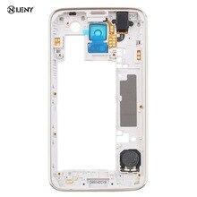 Замена Ближний ободок Задняя рама Корпус чехол для samsung Galaxy S5 i9600 G900F G900H мобильного телефона Запчасти и аксессуары