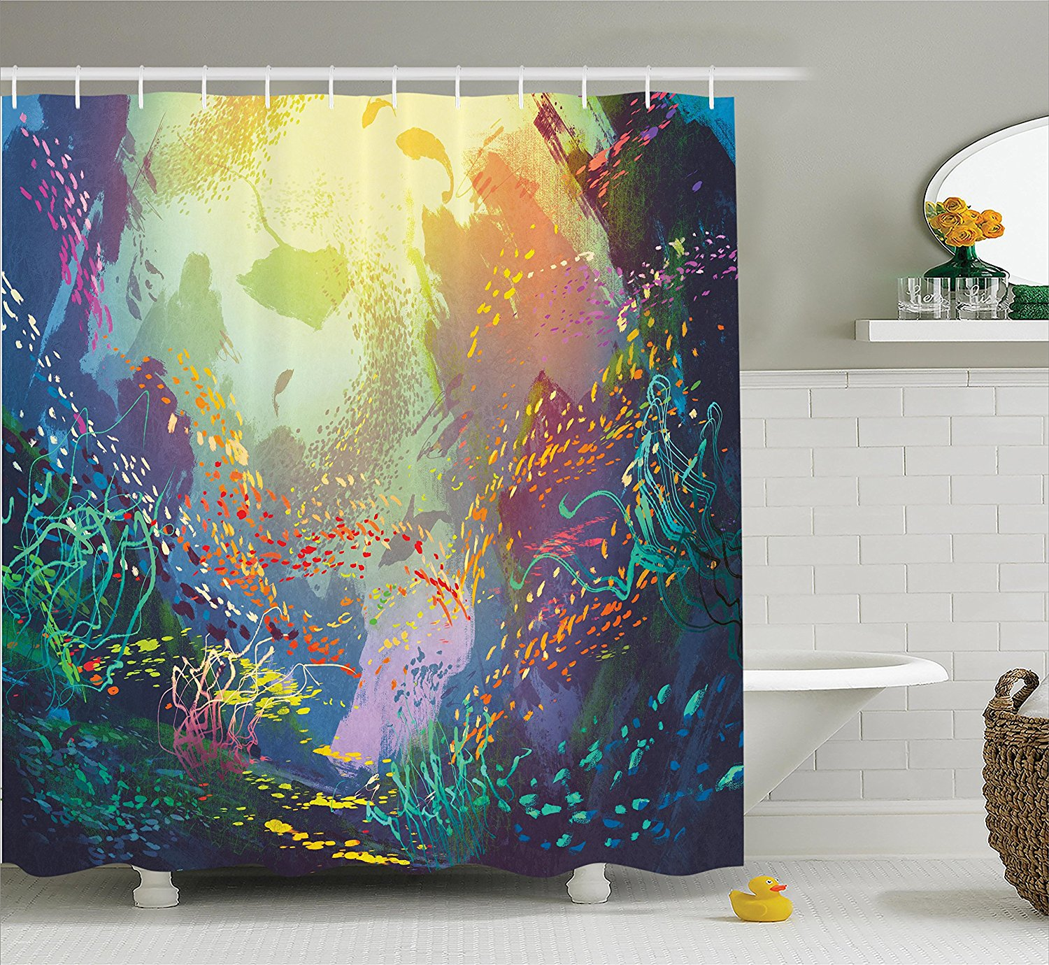 Online Get Cheap Coral Colored Shower Curtains Aliexpresscom