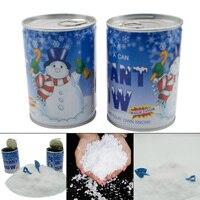 Горячая Распродажа волшебный мгновенный пушистый белый поддельный снег порошок банки Рождественская вечерние елка вечеринка Декор