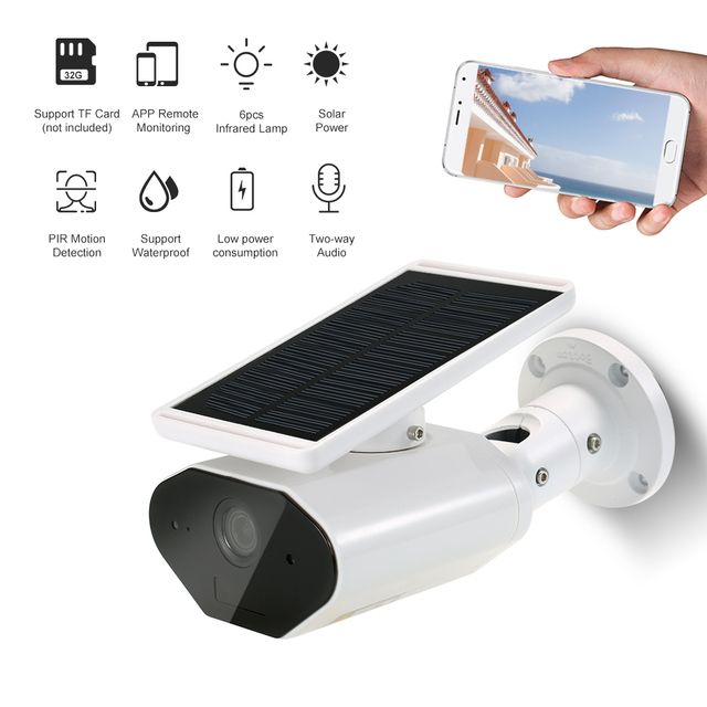 WIFI Wireless Waterproof Outdoor Camera 960P Solar Battery Power Low Power Consumption Surveillance Camera for Home Security