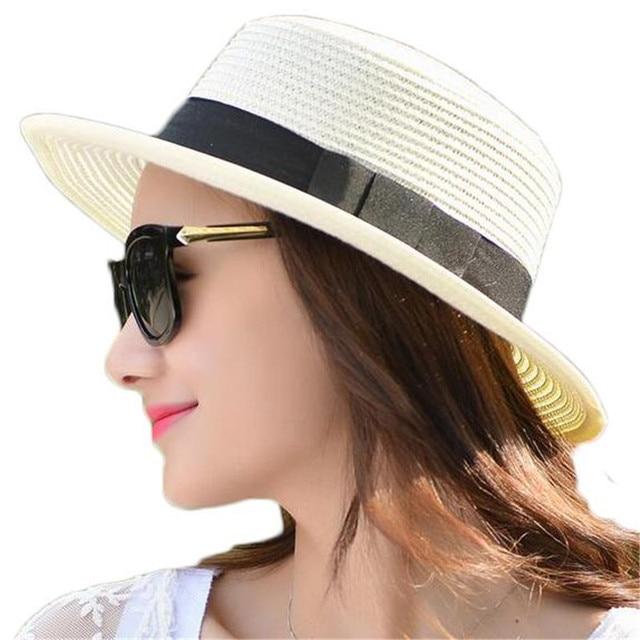 Beautiful Summer Hats For Women Part - 12: 2016 Summer Hats For Women Sun Hat Women Fashion Hats Beach Panama Straw  Chapeu Feminino ZMF874523