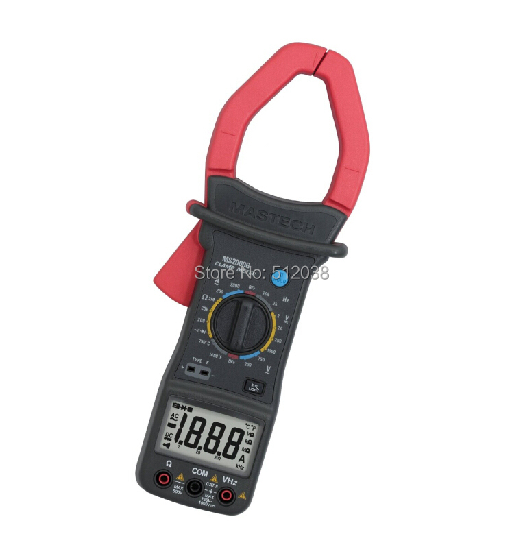 MS2000G AC DC Digital Clamp Meter Current Voltage Resistance Temperature мультиметр uyigao ac dc ua18