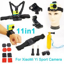 For Xiaomi yi accessories set action camera xiao yi set bobber stick helmet strap Adapter mount For GoPro & Sport Camera xiaomi