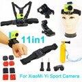 Para xiaomi yi accesorios set acción cámara xiao yi conjunto bobber stick helmet strap adaptador de montaje para gopro & sport cámara xiaomi