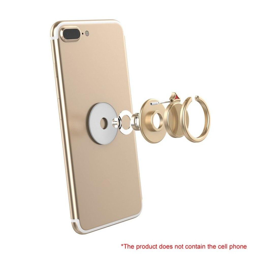 Finger Ring Bracket 360 Rotation Alloy Hand Spinner Arrow Tip Finger Toy Self-adhesive Stand Holder Universal For Mobile Phone