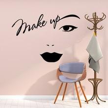 Makeup Wall Sticker Vinyl Decor For Girls Bedroom Beauty Salon Decoration Removable Decal Vinyl Stickers Mural vinilo decorativo