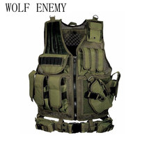 Men's Military Tactical Vest Army Hunting Molle Airsoft Vest Outdoor Body Armor Swat Combat Painball Black Vest for Men(China)