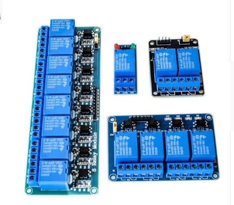 ¡5 V 1 2 4 de relé de 8 canales módulo con optoacoplador! Salida de relé 1 2 4 8 módulo de relé para arduino en stock