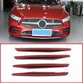 4 x красная Автомобильная передняя лампа  декоративная полоска для Mercedes Benz A Class W177 2019 аксессуары
