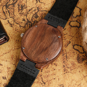 Image 5 - Mens Analog Nature Wood Quartz Fashion Women Sport Watches Genuine Leather Band Bamboo Casual Wristwatch Relojes Montres