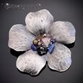 IYOE Multicolor Do Vintage Pedra Natural Flor Broches pinos Cachecol Mulheres Acessórios de Moda Marca Camisola