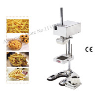 Upright type electric potato chips cutter slicer stainless steel potato cutting machine 220V