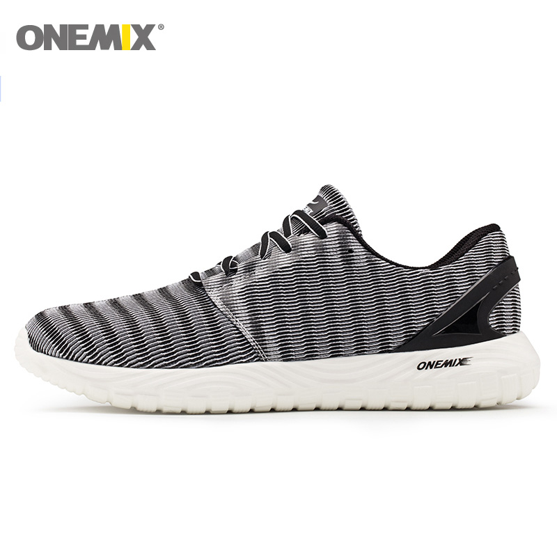 Onemix 2019 Men Classic Retro Shoes Lightweight Lace-Up Mesh Sneakers Running