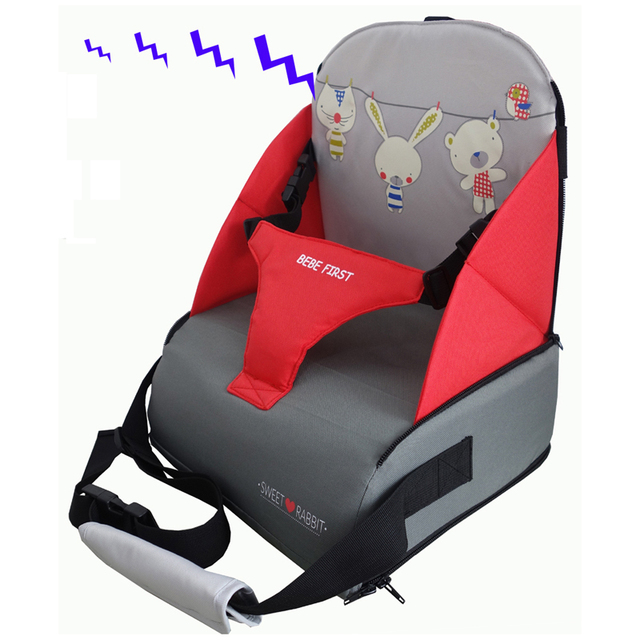 BEBE FIRST Baby Booster Seat Harness Random Straps Portable Fold Washable Baby Dining Chair Seat Bag
