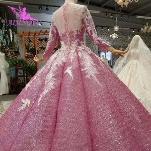 Image 2 - AIJINGYUมุสลิมชุดแต่งงานเม็กซิกันเจ้าหญิงลูกสั้นสีขาวเซ็กซี่ชุด2021 2020งานแต่งงานและชุดเจ้าสาว