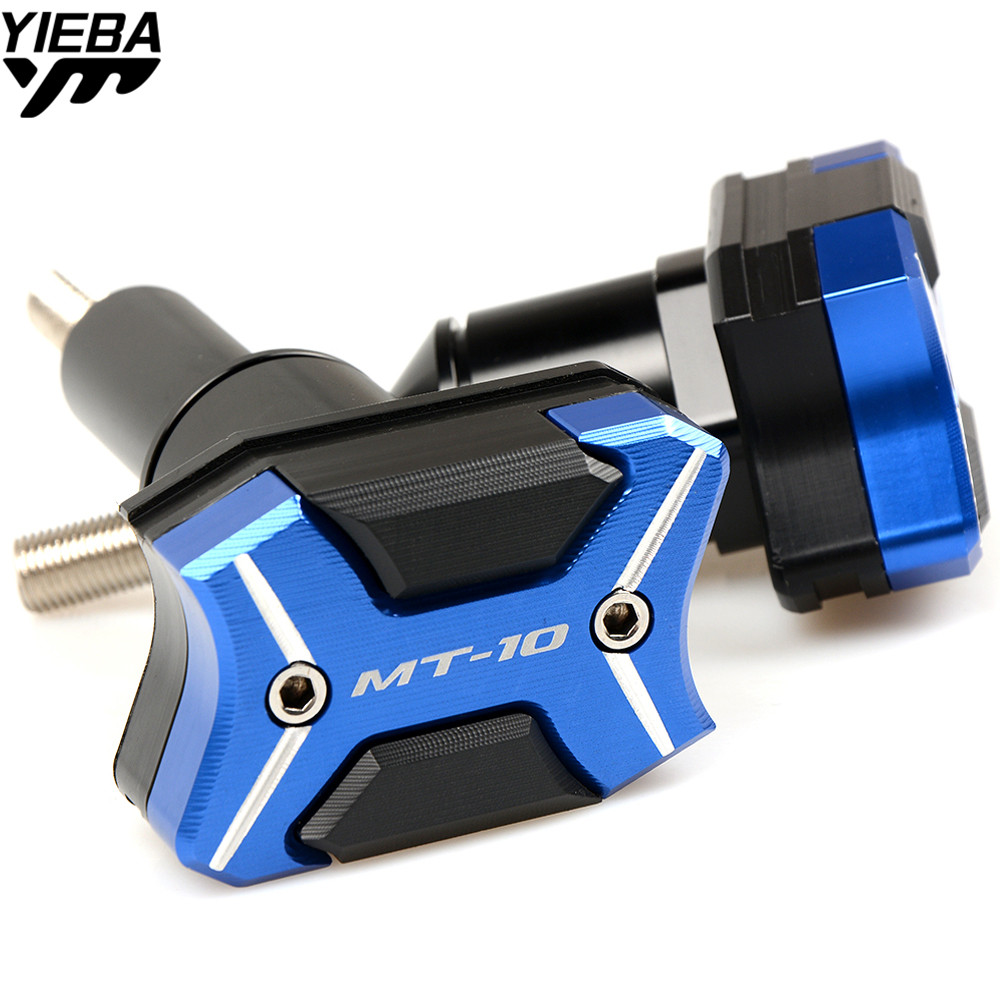 With MT-10 LOGO Motorcycle Frame Sliders Screw Crash Pad Cover Falling Protector Guard For Yamaha MT-10 MT 10 MT10 2016