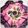 Bolso y de La Cadena de lujo Impreso Bandana Pañuelo de Estilo H Marca de Seda Bufandas Mujeres Diadema Silenciador Tippet Cuello Fulares Mujer Marca