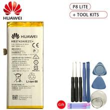 Hua Wei Original Battery HB3742A0EZC+ For Huawei Ascend P8 Lite TAG-L21 L22 L23 L01 L03 L13 ALE-L21 UL00 2200mAh +Tools m215hge l21