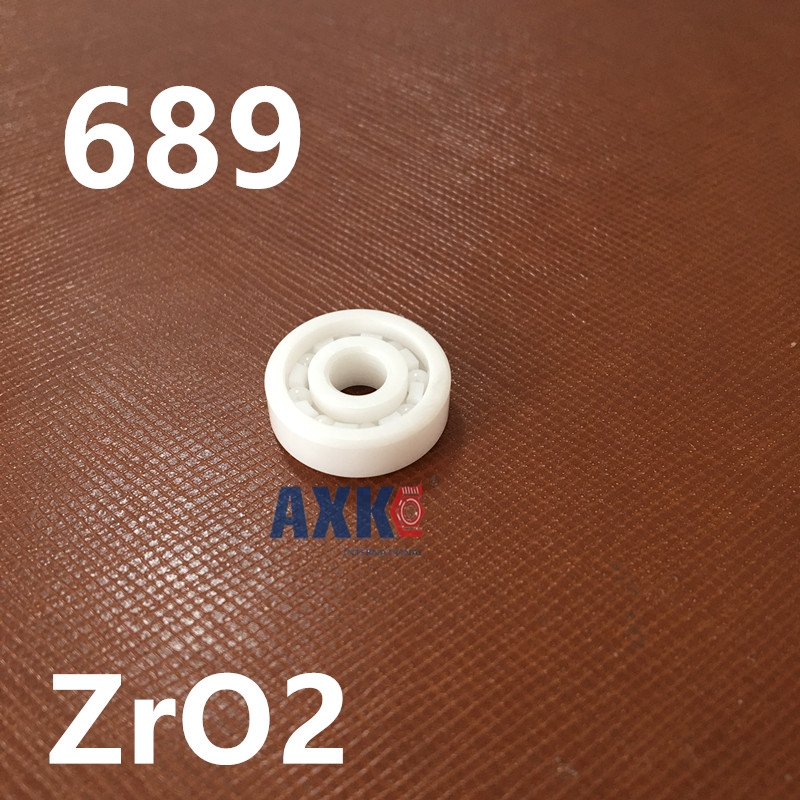 Free Shipping Full zro2  689 Ceramic bearing 9*17*5 MM zirconia bearing / ZrO2 /  high temperature insulation corrosion 689 ceramic bearing 9x17x4 zirconia zro2