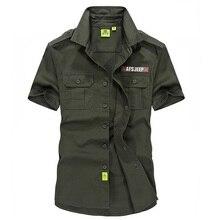 Sommer Stil Original Marke Mens shirts 2016 kurzarm Top qualität 100% baumwolle Plus Größe Lose männer Armee hemd 1003
