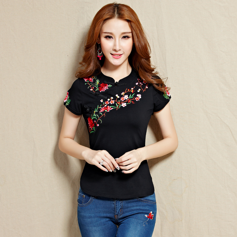 Online get cheap embroidered t shirt for Cheap embroidered t shirts