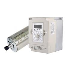 1.5kw D80*208mm water cooled spindle motor ER11 AC220V & 1.5kw 220v BEST VFD Inverter Variable Frequency Drive стоимость