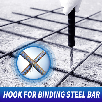Rebar tier construction site winding tool wire knoting pliers steel wire tring tool steel bar tying hook Semi-automatic