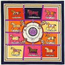 Imitation H Silk Scarf Women 2016 Spring New Fashion Printting Horse Brand Big Shawls And Scarves High Quality Bandana Blanket