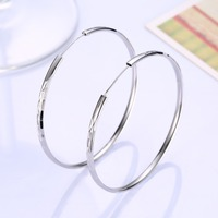 100 Sterling Silver Lady Nickel Wholesale 925 Sterling Silver Large Earrings Fashion Styling Earrings SVE170