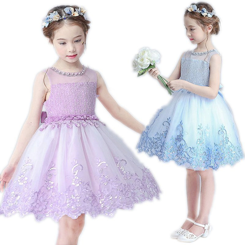 Подробнее о New Kids Clothing Teenagers Girl Party Dress Girls Princess Costume Wedding Dresses For Children 2017 Summer Design Lace Chiffon flower girl dresses for kids new girls summer full dress for party and wedding teenagers sundress fancy clothes princess costume