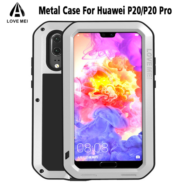 hot sale online 70c91 9687f US $56.0 |Love Mei HUAWEI P20 Pro Life Waterproof Case Metal Shockproof  Cover For Huawei P10 P20 Pro P20 Case+Gorilla Glass-in Phone Pouch from ...