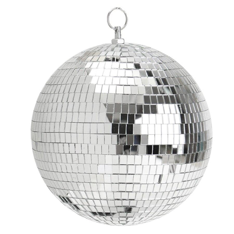 Thrisdar Dia15CM 20CM 25CM 30CM Rotating Reflection Glass Mirror Disco Ball Home Party Wedding Disco DJ Stage Light